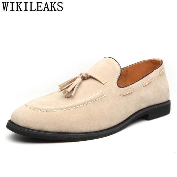 scarpe formali uomini mocassini classici uomini scarpe da lavoro sepatu slip on pria mens abito da sposa marrone chaussure homme ayakkabi