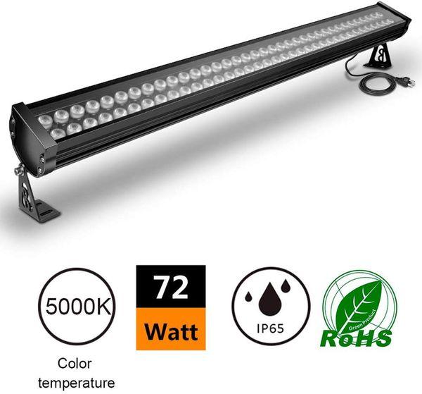 LED 72W Wall Washer Linear Light Bar, [200W HPS / HID equivalentes], AC100-240V, IP65 impermeável, 3.2ft / 40 polegadas, Igrejas, Hotéis