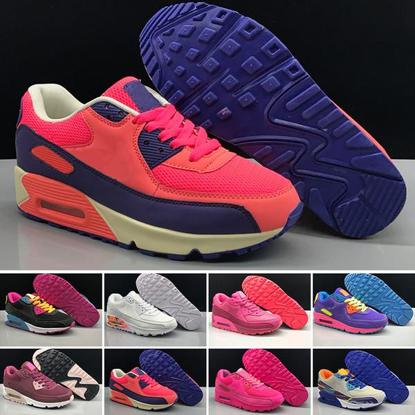 Compre Nike Air Max 90 Classic 90s Negro Blanco Amarillo Para Hombres Mujeres Venta Caliente Zapatillas Hombre 90 Zapatillas De Deporte Entrenador
