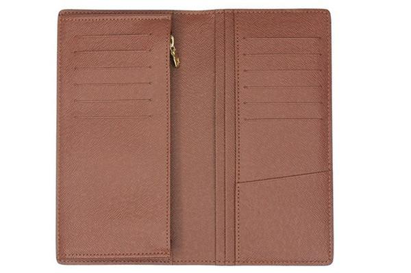 Amazing Quality! Wholesale Designer Long Wallet Men's Brazza Wallet Card Holder Case MN66540 Zipper Coin Purse Suit Bag Gift Box