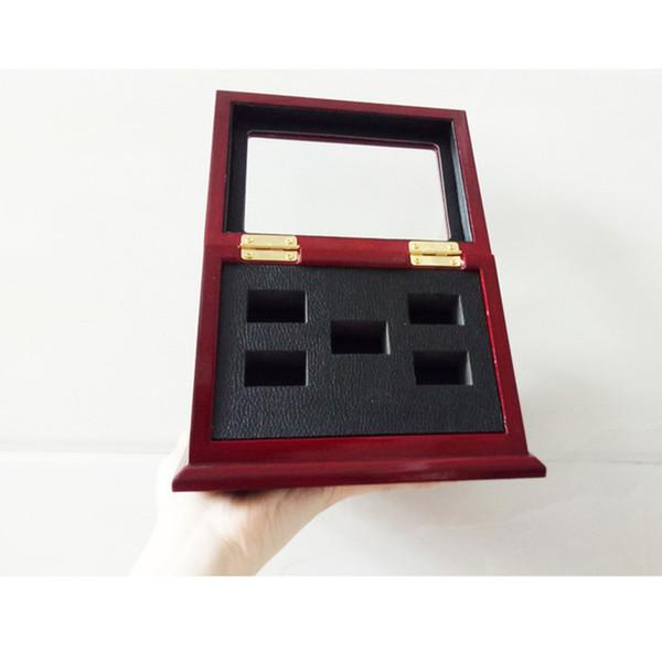 5pcs Bague avec la boîte en bois