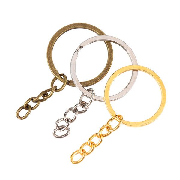 Zincir Gümüş Altın Bronz Renk ile Bölünmüş Anahtarlık Metal Bölünmüş Anahtarlık Yüzük Parçaları Atlama Yüzük