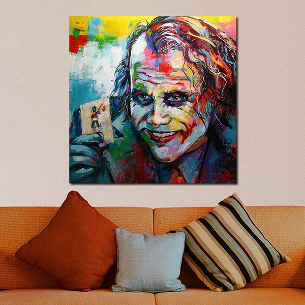 1 Piece Graffiti Clown Oil Painting Canvas Art Paintings For Living Room Wall No Frame Decorative Pictures