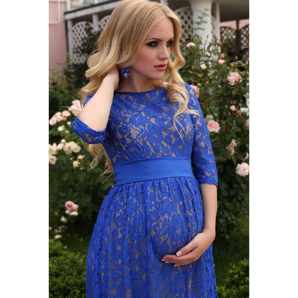 Sexy Robe De Soirée De Maternité Photographie Props Robe Enceinte Robe De Grossesse Photographie Vêtements Pour Femmes Enceintes VêtementsMX190910