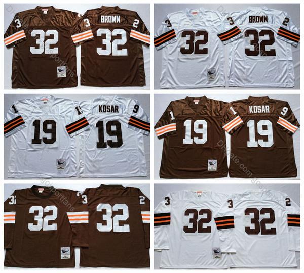 Jim Brown Dating >> 2019 Vintage 1clevelandbrowns1 32 Jim Brown Jersey 19 Bernie Kosar Jersey Cheap Football Jerseys Mens Long Sleeve Stitched Shirts M Xxxl From