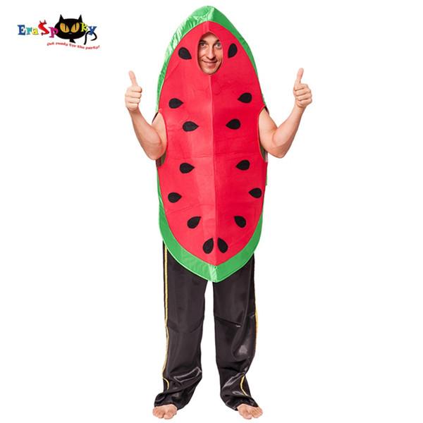Wassermelone Eraspooky Karneval Männer Obst Cosplay Erwachsene Wassermelone Lose Weihnachtskostüm 2018 Neue Ankunft