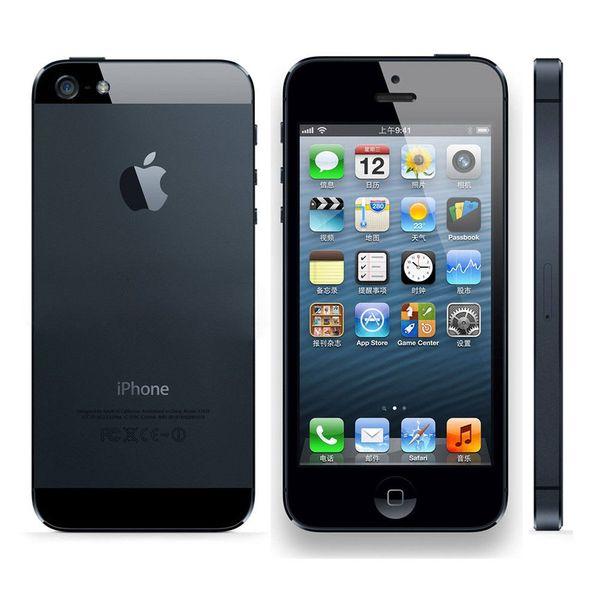 Unlocked Original Apple iPhone 5S 16GB 32GB 64GB ROM 4G Touch ID iCloud WIFI IOS 12 Dual Core 4G network mobile phone DHL