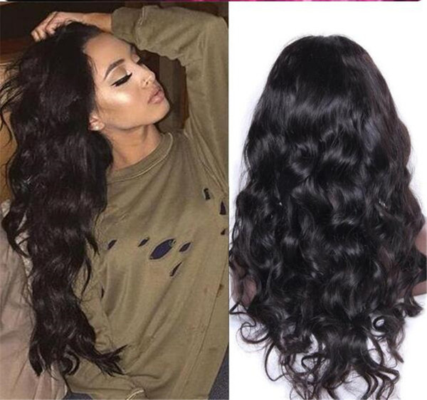 8a Silk Top Full Lace Wigs Brazilian Virgin Hair Body Wave Glueless