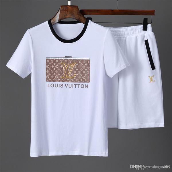 Nuovi modelli Uomo T-shirt Pantaloncini Set Abiti da uomo Estate Traspirante Short Set Tuta sportiva Design Moda Tuta Set Trending Styl