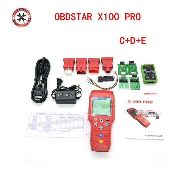 OBDSTAR X-100 PRO X100 Pro Auto Key Programmer C+D+E Type for IMMO&ODOMETERand OBD Software Function with EEPROM X100 Programmer