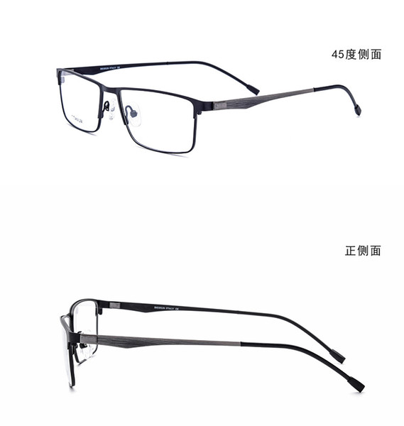 2019 Yeni Varış Titanyum alaşım Ultra hafif Erkek Tam rime İş Gözlük Çerçeveleri Tasarımcı Gözlük Moda Reçete Gözlük 837
