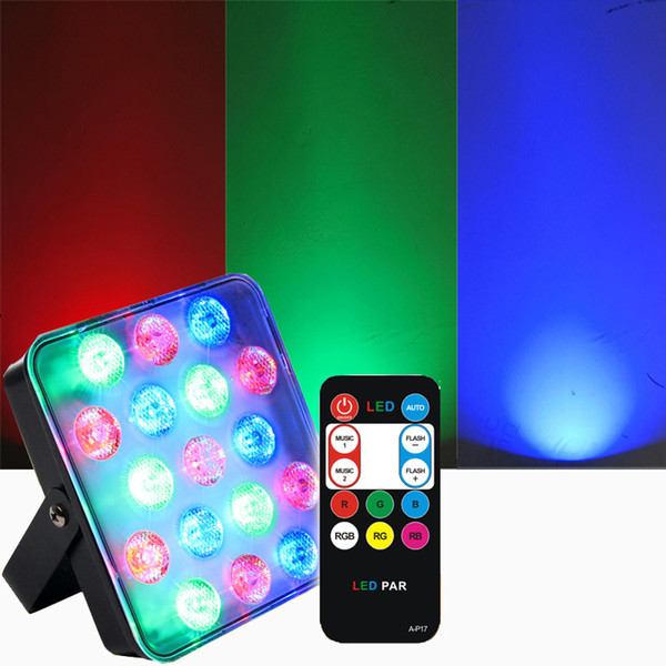 Mini 17 Watt RGB Led Storbe Par Lampe Remote Sound Projektor Licht für DJ Party Home Hochzeit Bühnenbeleuchtung