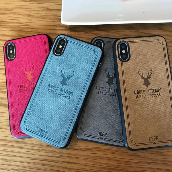 Casos de telefone ultra fino para iphone 7 8 plus xs max pele de couro capa de couro macio tpu silicone case para iphone xr x shell