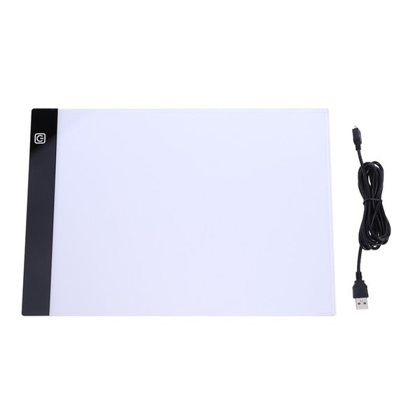 A4 Magnetic LED Painting Board LED Light Box Tracing Copy Table Blank Canvas Pads Panel Tablet Art for diamond Painting AS968 A4