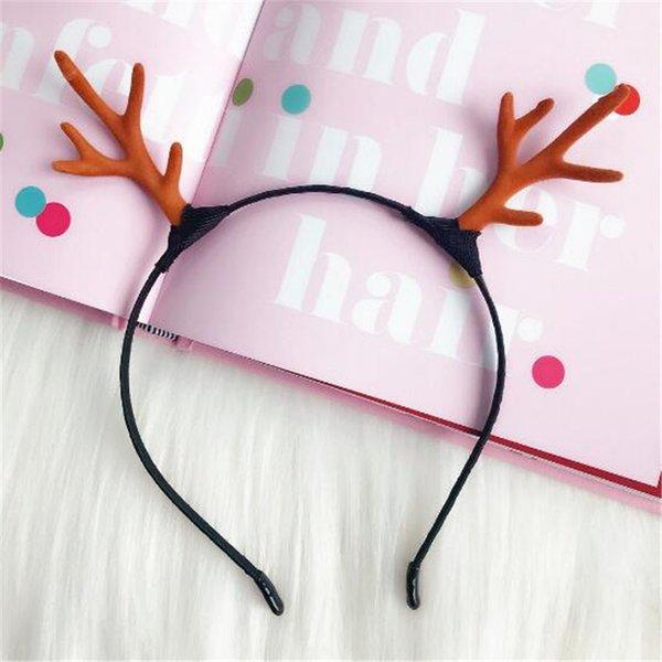 Antler Elk Horn Headband Crystal Rhinestone Women Hair Accessories Xmas Party