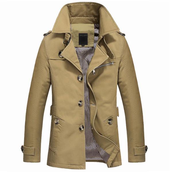 2019 Novo Outono Masculino Casaco Longo Casaco Jaqueta Trenchcoat Masculina Dos Homens Trenchcoat Masculina Blusão Outwear Dropshipping