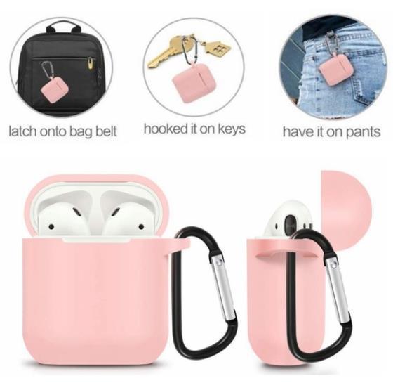 auricolare Bluetooth Apple AirPods Custodia morbida in silicone Custodia antiurto con tappo antipolvere Custodia anti-perso con cinturino per Apple Air Pod