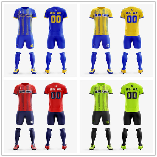 Custom Adult Youth Soccer Jersey 2019 Top quality full sublimation printing Football shirt Kit soccer jerseys