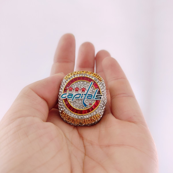 2019 all'ingrosso 2017-2018 Washington Capitals Stanley Cup Championship Ring Fan Uomo Regalo Drop Shipping all'ingrosso