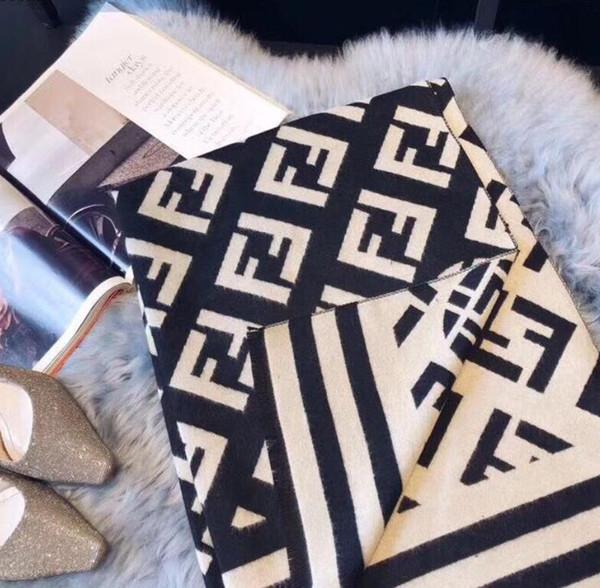 AY7fendi AW7LOUISVUITTON marchio di moda di Parigi spettacolo sciarpa superiore filo d'oro di lana tessile sciarpa donna scialle = 140-140cm