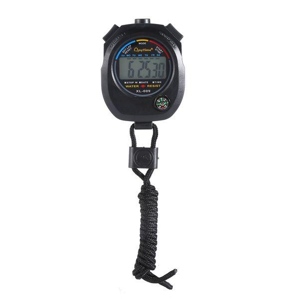 2019 Çalıştırmak için Hakem Sporcular Dijital LCD Kronometre Su geçirmez Chronograph Timer Sayaç Çok Fonksiyonlu Spor Alarm Sayacı