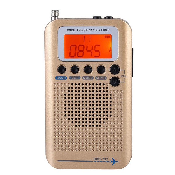 Portable Aircraft Radio Receiver,Full Band Radio Receiver - AIR/FM/AM/CB/SW/VHF,LCD Display With Backlight,Chip Has A Powerful