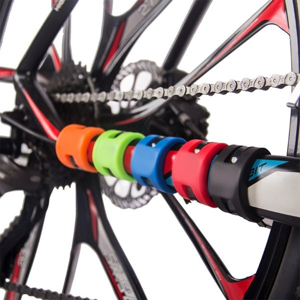 New 1 Pc Bicycle Front Rear Fork Cover Protection Rubber Anti Scratch Chain Guard Bike Parts Accessories 5 Colors