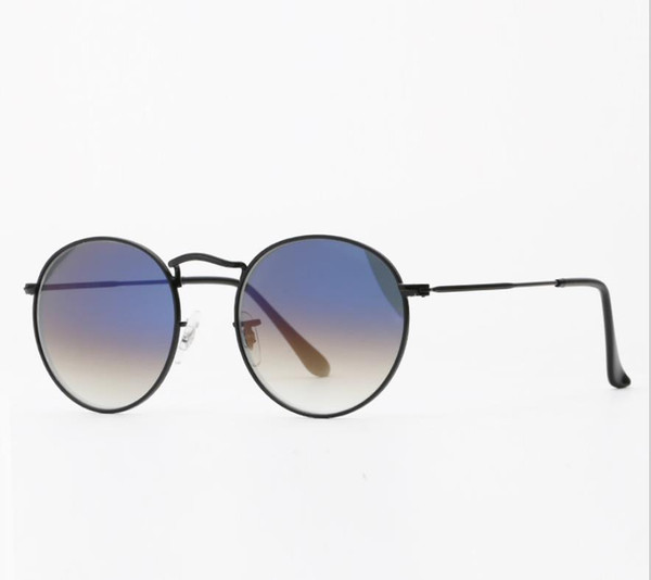 black frame gradient blue lens
