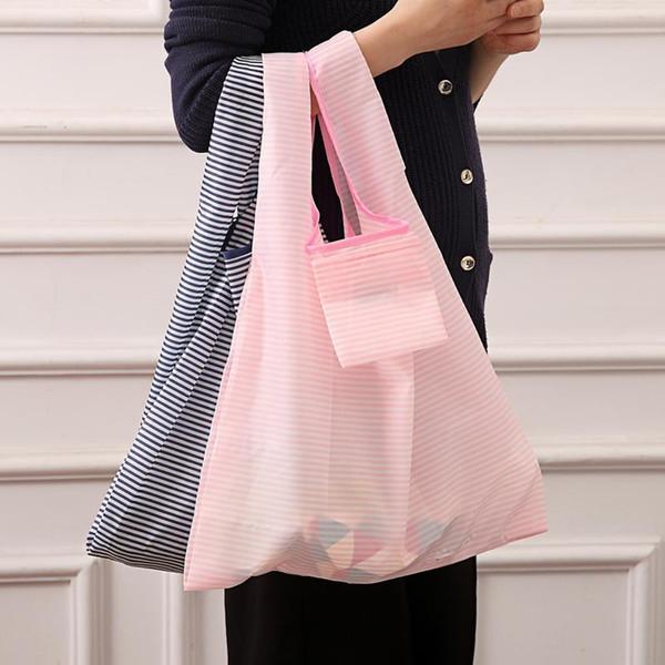 Eco Friendly Shopping Tote Bags Promotion Personnalisable Créative Pliable Sacs À provisions 6 Couleurs Réutilisable Sac De Stockage D'épicerie BH0493 TQQ