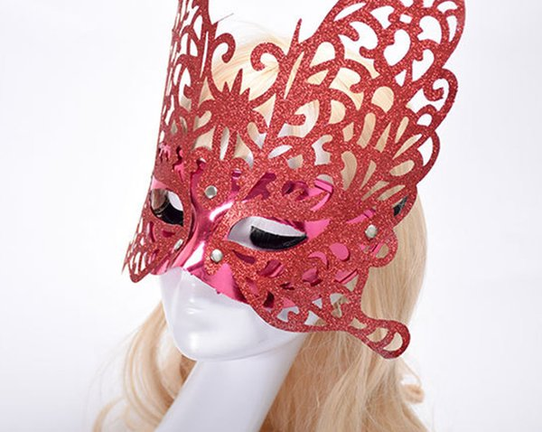 2019 Plastic Cosmetic Butterfly Mask For Women Half Face Halloween Fancy Dress Ball Cosplay Masquerade Party Masks