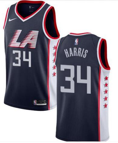 separation shoes 2723b 698c0 2019 2019 Men'S LA Clippers #34 Tobias Harris Navy 2018/19 Swingman Custom  Jersey City Edition From Customjersey14, $16.25 | DHgate.Com