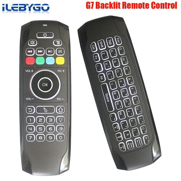 3 teile / los G7 2,4G Hintergrundbeleuchtung Drahtlose Tastatur Air Mouse 6-achs Gyro Smart Fernbedienung Für X96 tx3 mini A95X H96 Android TV Box