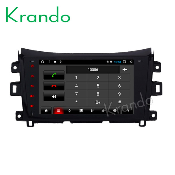 """Krando Android 8.1 9"""" IPS Touch screen car Navigation system for Nissan NAVARA/ NP300 radio palyer gps multimedia player wifi car dvd"""