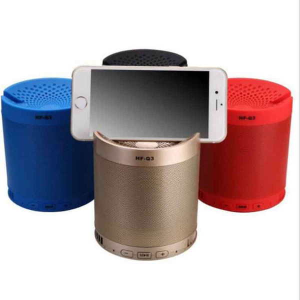 Creative Outdoor Bluetooth Speaker HF-Q3 Wireless Portable Mini Audio Mobile Phone Bracket Subwoofer Card Speaker MOQ:10pcs Free Shipping