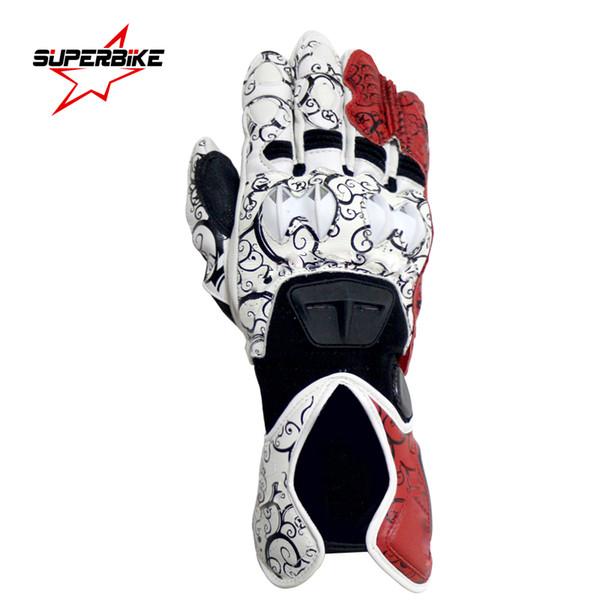 Motorcycle Gloves Moto Glove GP PRO For Men Genuine Leather Motocross Protective Gear Cycling Guantes Moto Luvas da motocicleta