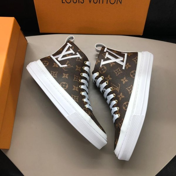 2019f Scarpe casual da uomo di alta moda Strisce stampate Scarpe sportive casual Personalità di design di alta qualità Scarpe sportive da uomo scatola originale