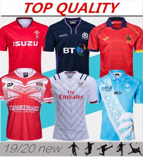 best selling 2019 rugby world cup jersey Wales red jerseys 19 20 rugby league Spain rugby shirts Scotland Fiji Tonga shirts