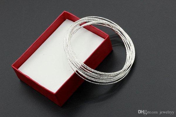 Yeni Gümüş Kaplama Bileklik Kadınlar Kızlar için Lüks Manşet Bilezikler gelin düğün takı gelin
