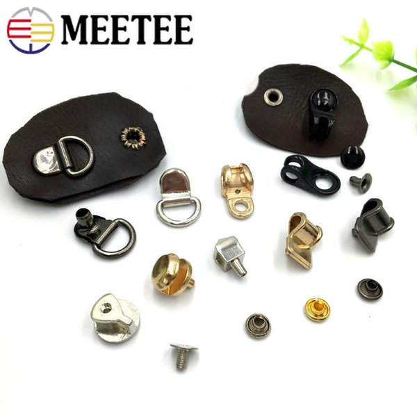 Meetee Metal Shoes Rivet Martin Boots Eye Buckles Nails Handag Decoration D Ring Clip Buckle DIY decorative button Accessories