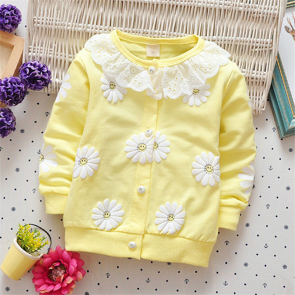good quality 2019 Baby Girls Coats Kids Clothes Spring Autumn Children Girls Jackets Flower Print Outerwear Fashion clothes For 1-3Y
