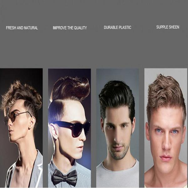 2019 novo grande galo cabelo curto cabelo dos homens de volta cabeça de óleo forte estilo cera de cabelo / cabeça de óleo de volta