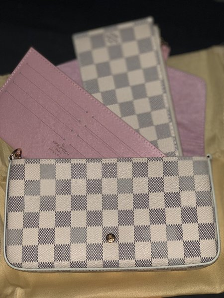 top popular Hot sale Felicie Orignal Real Genuine Leather Fashion Chain Shoulder Bag Handbag Presbyopic Messenger Bag Mobile Card Holder Purse 6127 2019