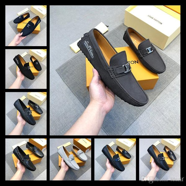 18ss NEW Men Wedding Party Shoes Oxfords Men Bussiness Shoes Flat Red Bottom Designer Alpha Male P Strass Flat Low Heels Men Casual Shoes