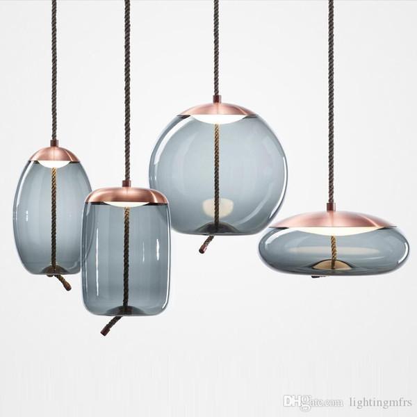 Escandinavo Moderno Galss Pingente Luzes Sala de Cozinha Cozinha Levou Hanglamp Lâmpada de Cabeceira Luz Casa Pendurado Lâmpada