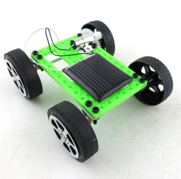 Mini Solar Energy Toys Car Model Accessories Diy Car Educational Toys science Technology Mini Solar Powered Toy DIY Car LJJK1673