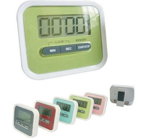 Hot New Christmas Gift Digital Kitchen Count Down/ Up LCD display Timer /clock Alarm with magnet stand clip