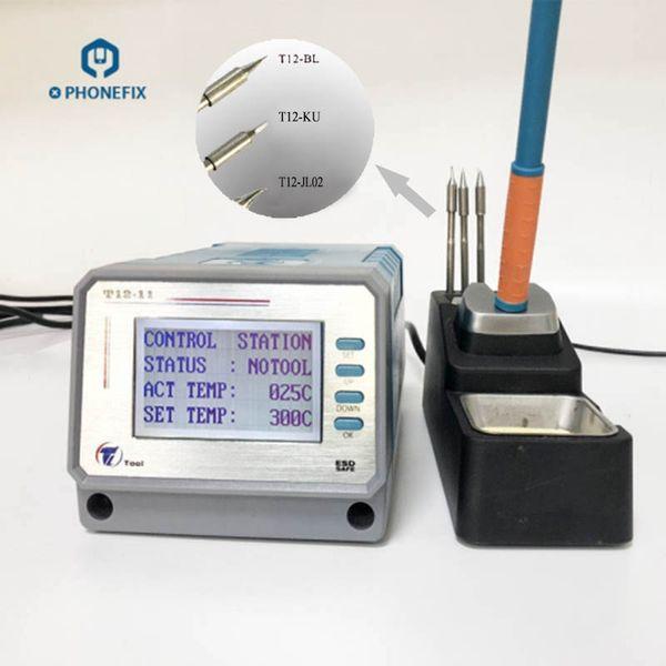 Station de soudure sans plomb numérique LEISTO Intelligent T12-11 avec points de fer à souder Composants de carte de circuit imprimé de soudage Outils de réparation