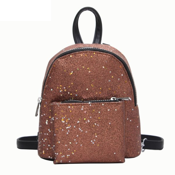 e256ad829e9b Good Quality 2019 Women'S Sequins Pu Leather Backpack Children Backpacks  Mini Bag Fashion Small Back Pack For Teenage Girls Bags Hydration Backpack  ...