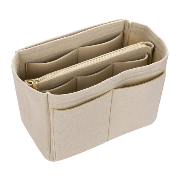 Hot Sale Makeup Bag Cosmetic Cases Felt Bag Organizer Insert Cosmetic Bags Makeup Case Travel Toiletry Bag