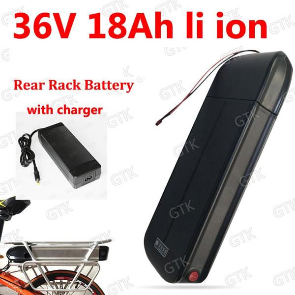 36V 18Ah Lithium-Ionen Akku 10s 18650 Gepäckträger Akku für E-Bike BBS01 BBS02 750w eBike + Ladegerät